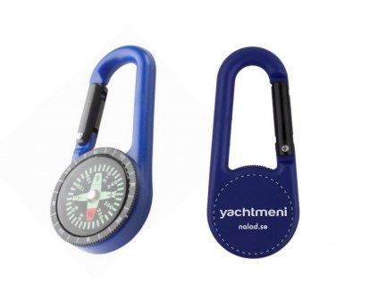 Karabina s kompasem modrá Yachtmeni