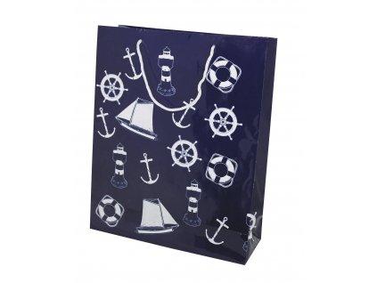 Dárková taška námořnická velká TMAVĚ MODRÁ 4902