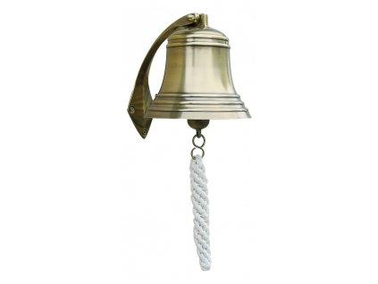 Lodní zvon mosazný antik 15 cm