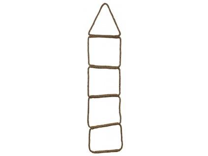 Lanový žebřík s pěti stupni