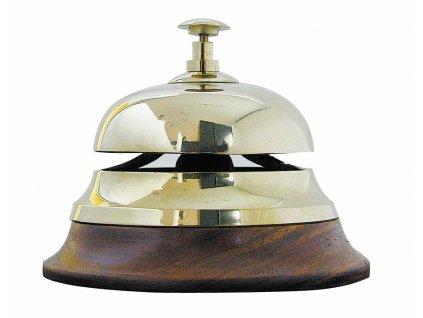 Stolní zvonek - recepce - mosazný