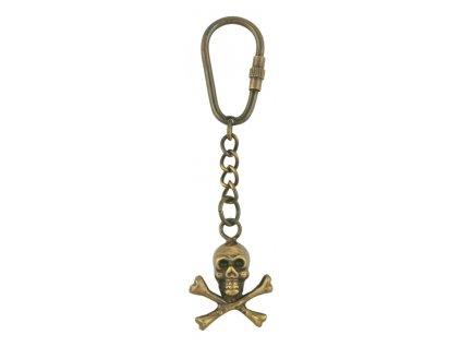 Přívěsek na klíče lebka - pirát - JOLLY ROGER 8559