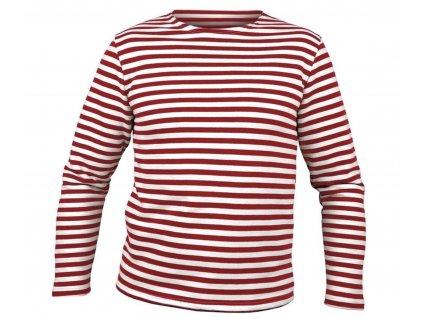 Námořnické triko MARINE dlouhý rukáv ČERVENÉ