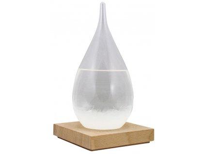 Bouřková sklenička - Stormglas ve tvaru kapky s LED osvětlením 21 cm 5978