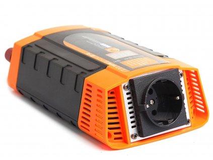 Inteligentní měnič napětí Carspa PID 400-12 12V/230V 400W + USB