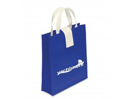 Netkaná skládací nákupní taška 320 x 360 mm modrá Yachtmeni