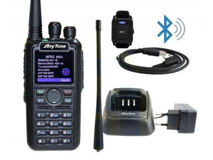 ANYTONE AT-D878UV II PLUS GPS BT APRS receiver USB kabel 3100mAh baterie