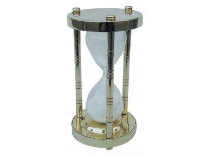 Přesýpací mosazné hodiny 15 min. 14,5 cm 9181