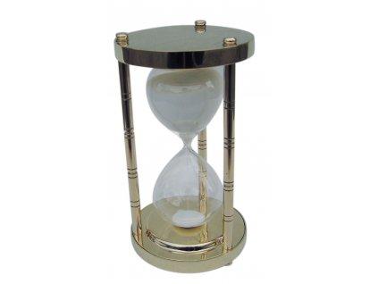 Přesýpací mosazné hodiny 30 min. 17 cm 9184