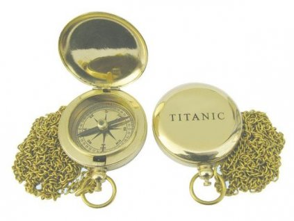 Kompas do kapsy s řetízkem 5 cm Titanic