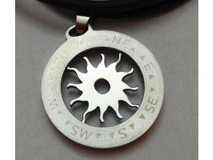 Přívěsek z chirurgické oceli Kompas