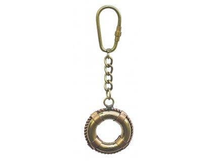 Přívěsek na klíče záchranný kruh mosaz/měď
