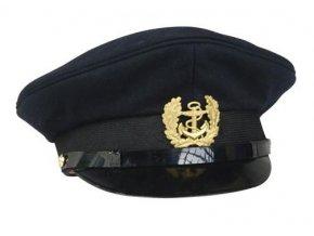 Čepice BW Marine námořnická kapitánská s odznakem TMAVĚ MODRÁ