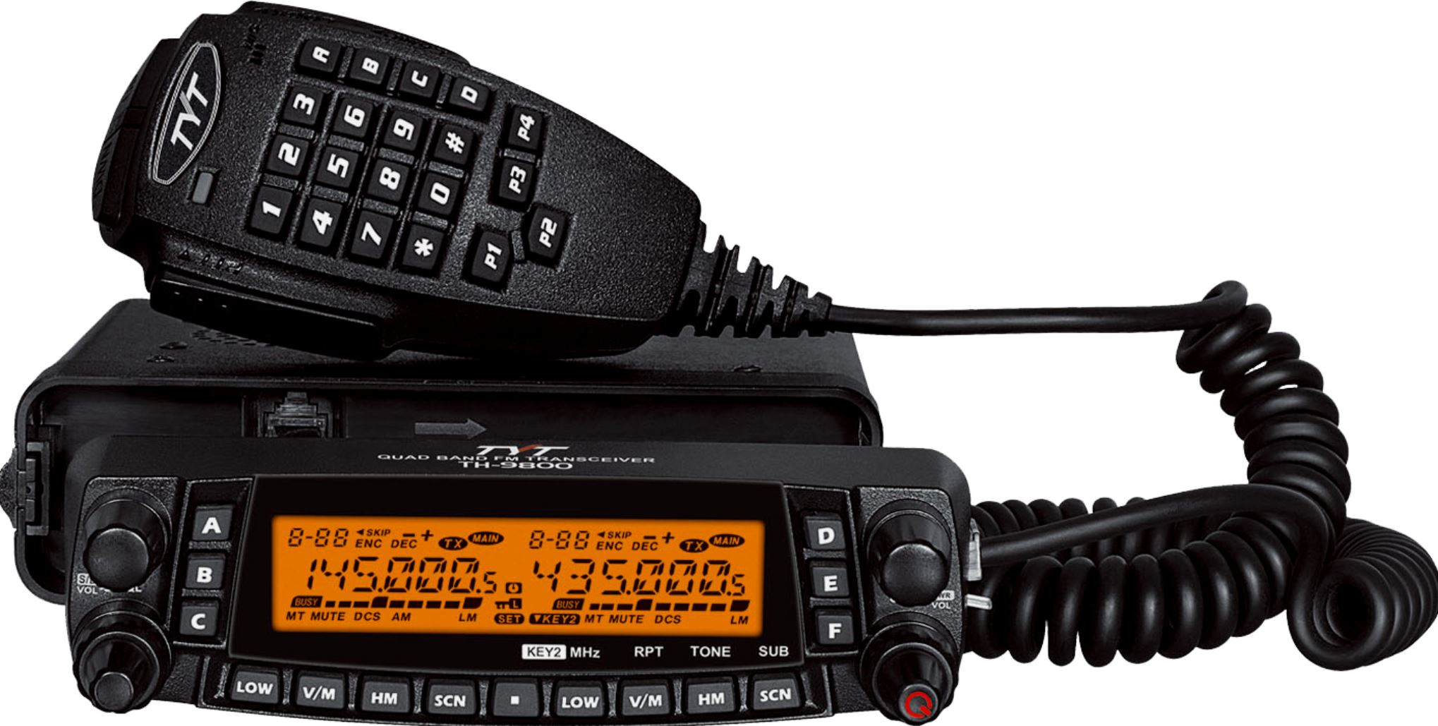 KYD TH-9800 QUAD Band V2 plus 66-88 MHz