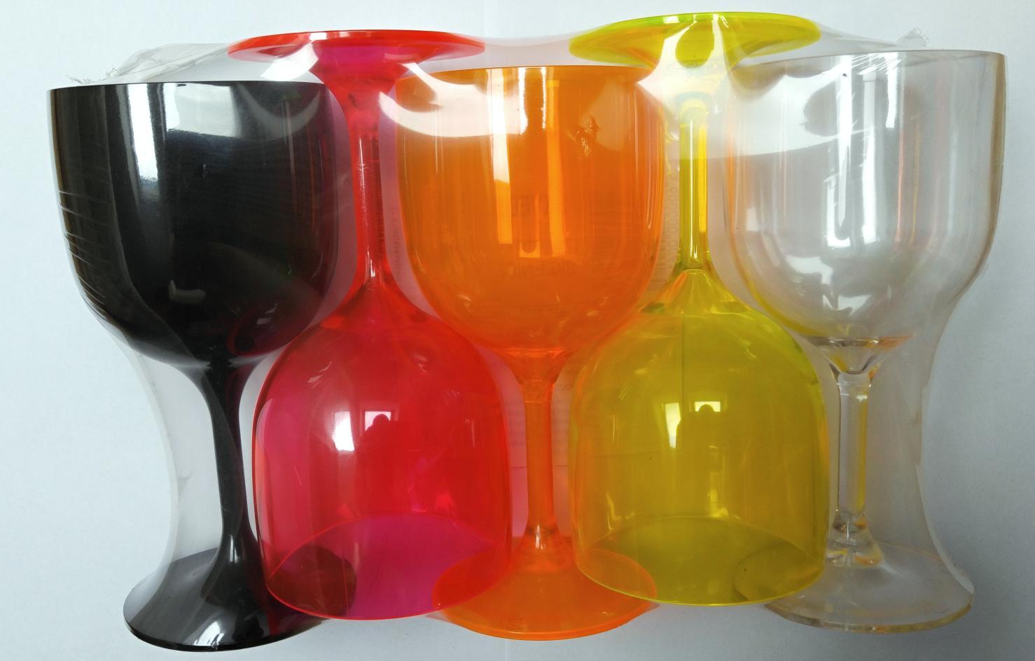 MATOS PLAS SA Nerozbitná sklenice - Wineglass 26cl - 5ks set barva