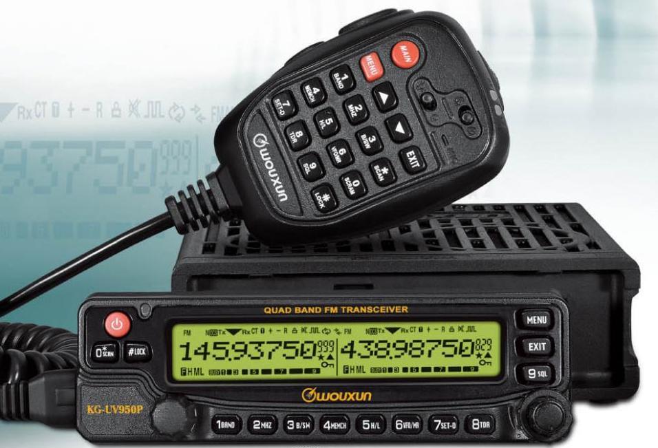 WOUXUN KG-UV950P quad-band HF/VHF/UHF