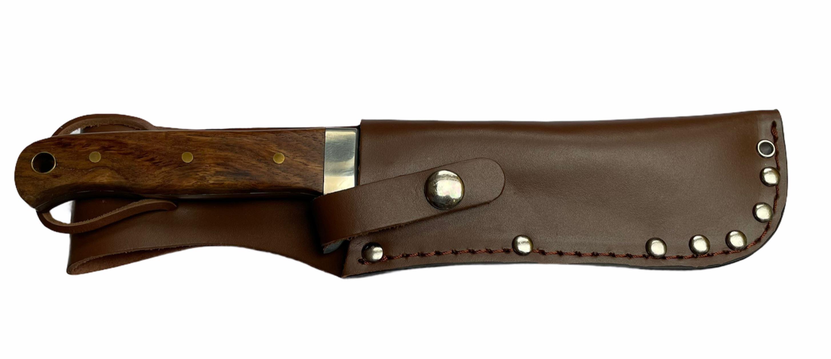 MFH Nůž námořnický BW s pevnou čepelí dřev. střenka pouzdro kůže