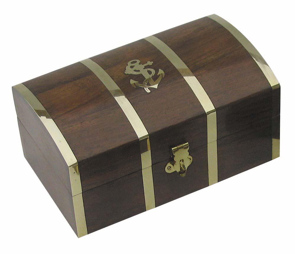 SEA CLUB Dřevěný box truhla s kotvou velká