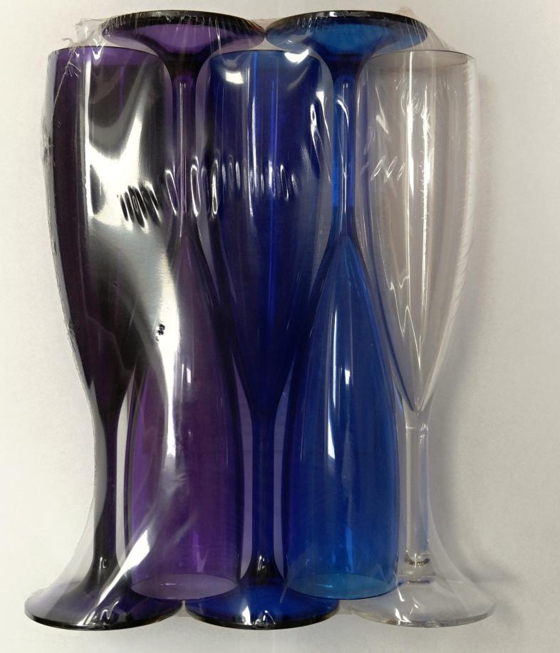 MATOS PLAS SA Nerozbitná sklenice - Flute Big 16 cl - 5ks set barva