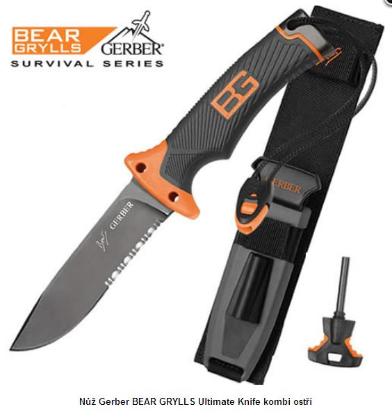 Gerber Bear Grylls Ultimate Knife kombi ostří