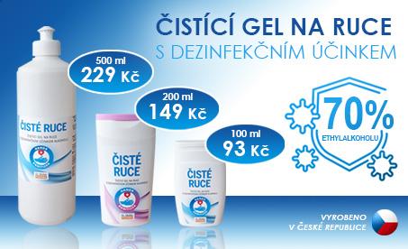 dezinfekční gel na ruce