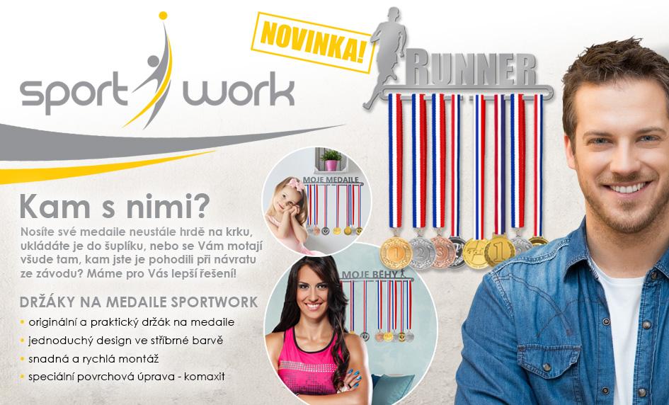 Unikátní držáky na medaile Sport Work
