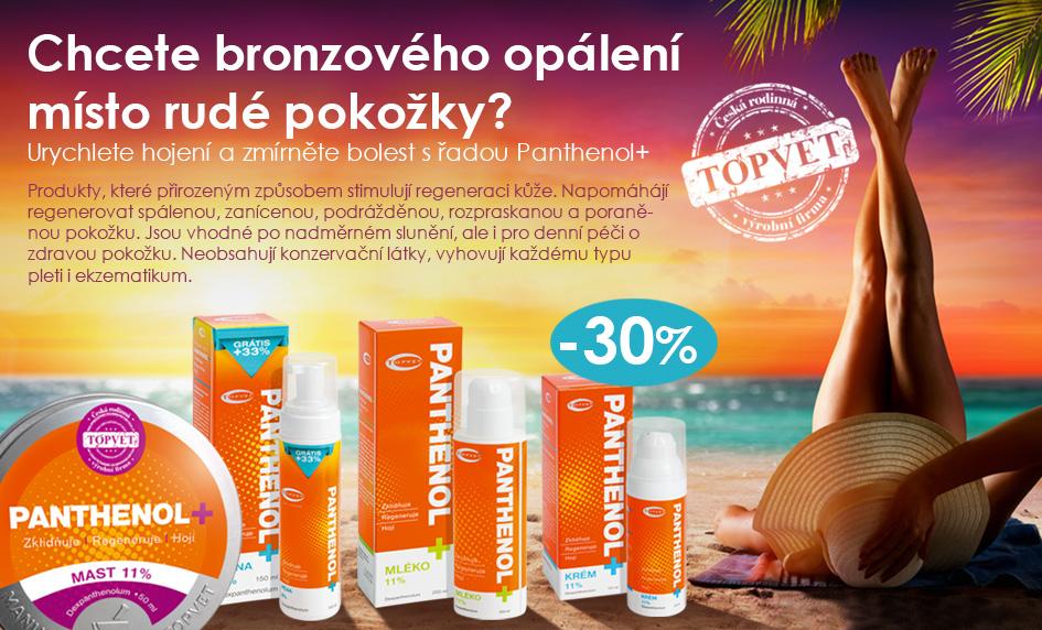 Akce na řadu produktů Panthenol+