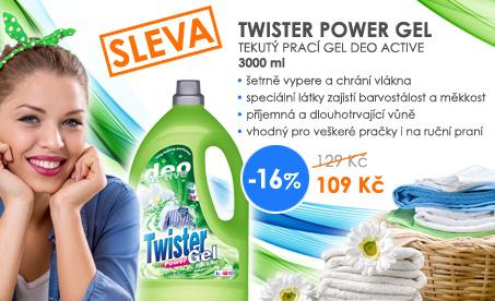 Prací gel Twister Deo Active za pouhých 109 Kč!