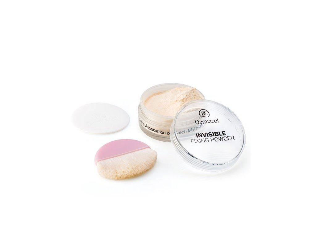 Dermacol Transparentní fixační pudr (Invisible Fixing Powder) 13,5 g (Odstín Natural)
