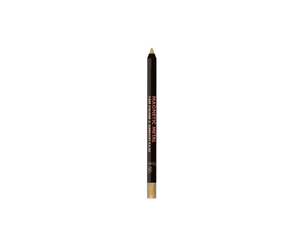 Dermacol Metalická oční linka v tužce Magnetic Metal 16H Eyeliner & Supersoft Kajal 2 g