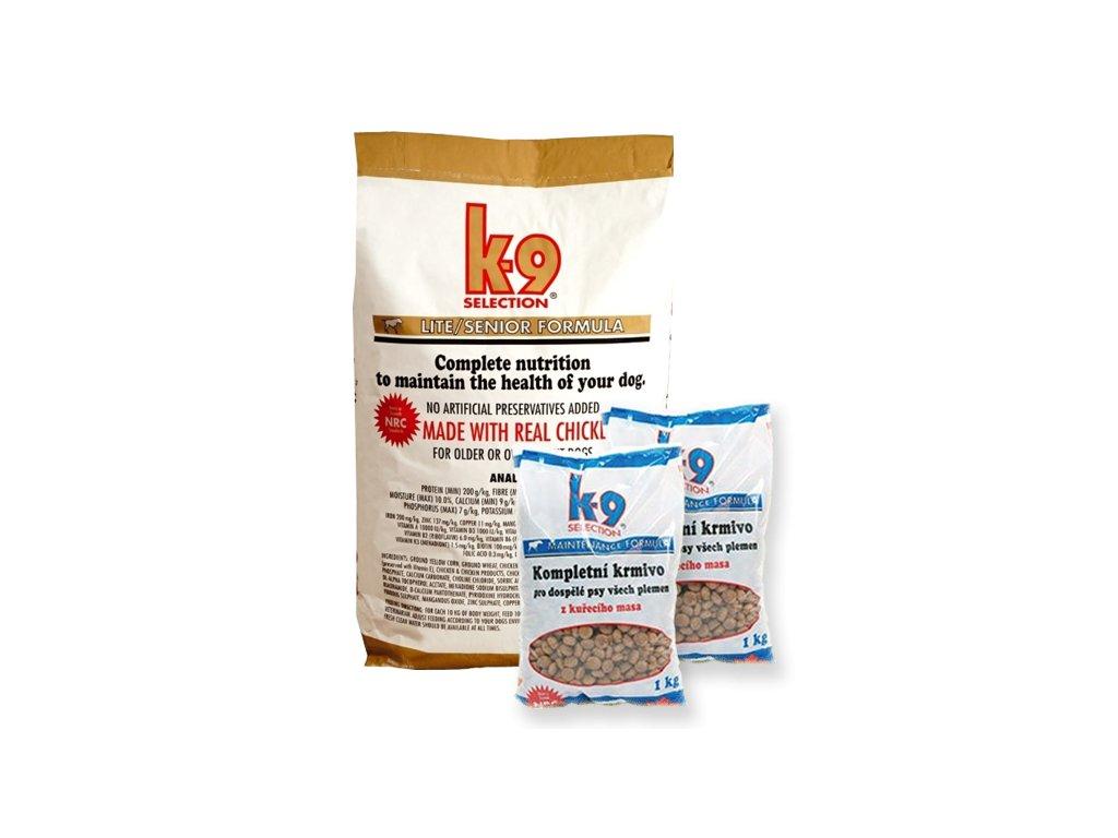 K-9 Selection Lite Formula (krmivo pro kontrolu hmotnosti psa) 12 kg + 2x 1kg balení zdarma