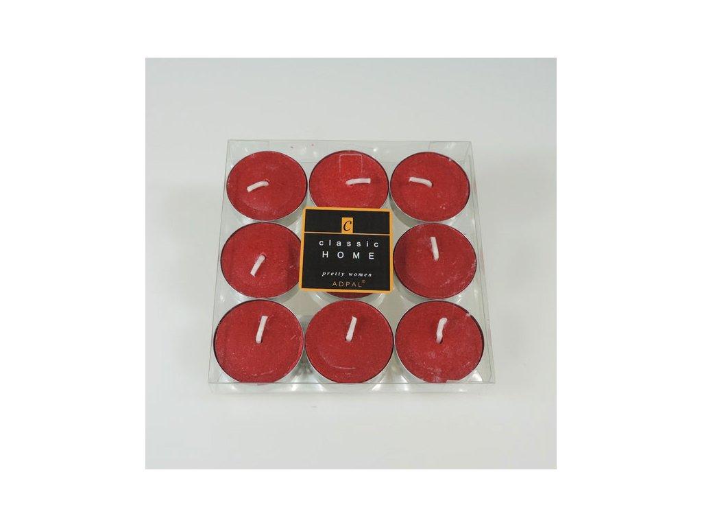 Adpal čajové svíčky Classic Home 12x38 mm 9 ks Pretty Women vínová