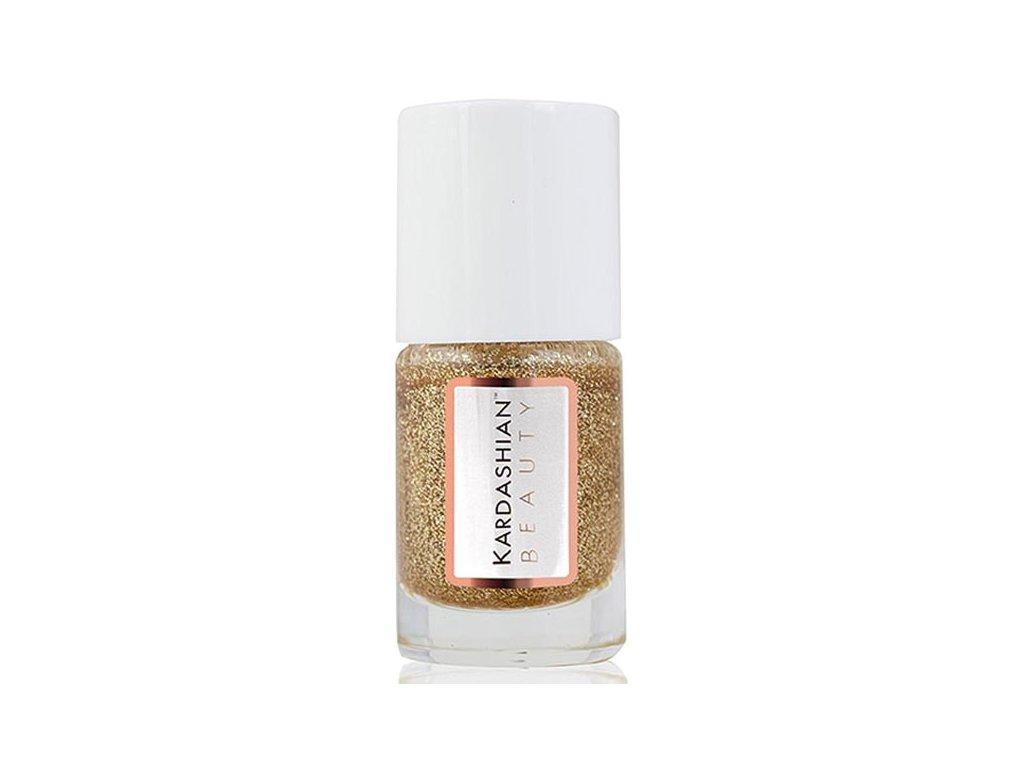 Kardashian Beauty Lak na nehty odstín Fairy Dust - Gold Glitter (Nail Lacquer) 11 ml