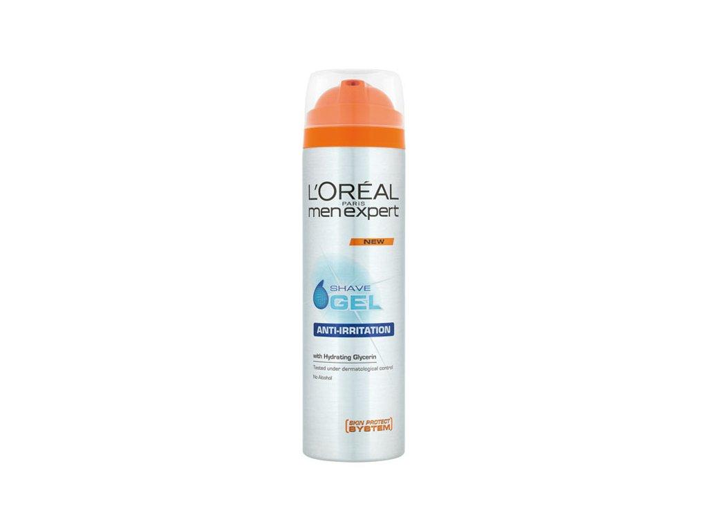 L'Oréal Paris Men Expert Hydra Energetic Anti-Irritation gel na holení pro muže pro citlivou pleť 200 ml
