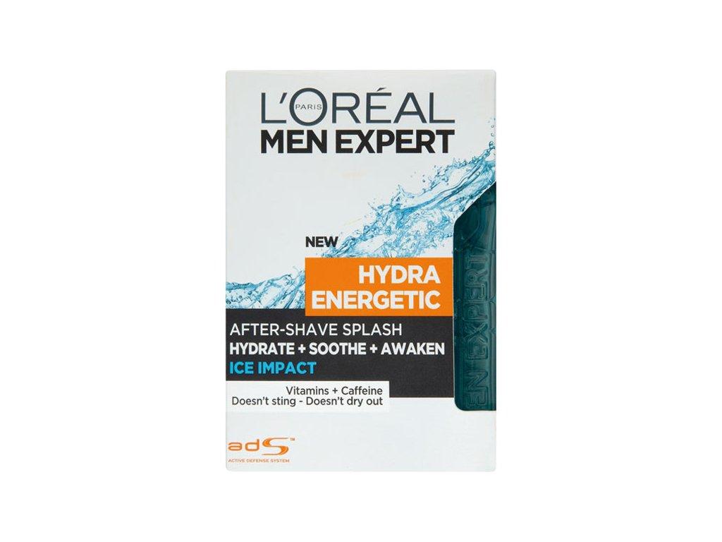L'Oréal Paris Men Expert Hydra Energetic Ice Impact voda po holení pro muže 100 ml