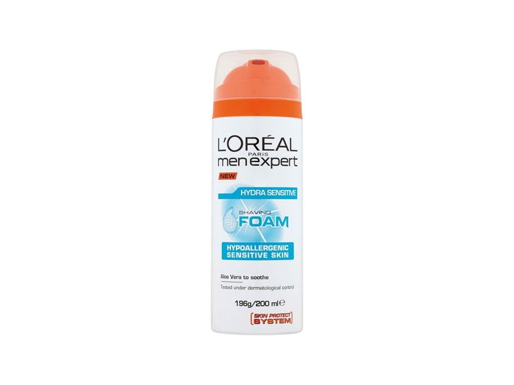 L'Oréal Paris Men Expert Hydra Sensitive pěna na holení pro muže pro citlivou pleť 200 ml