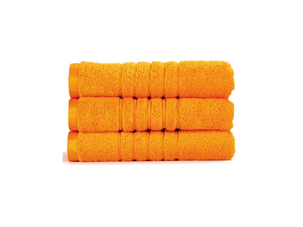 Brilliant froté ručník v sytě žluté barvě (Saffron) 50 x 100 cm