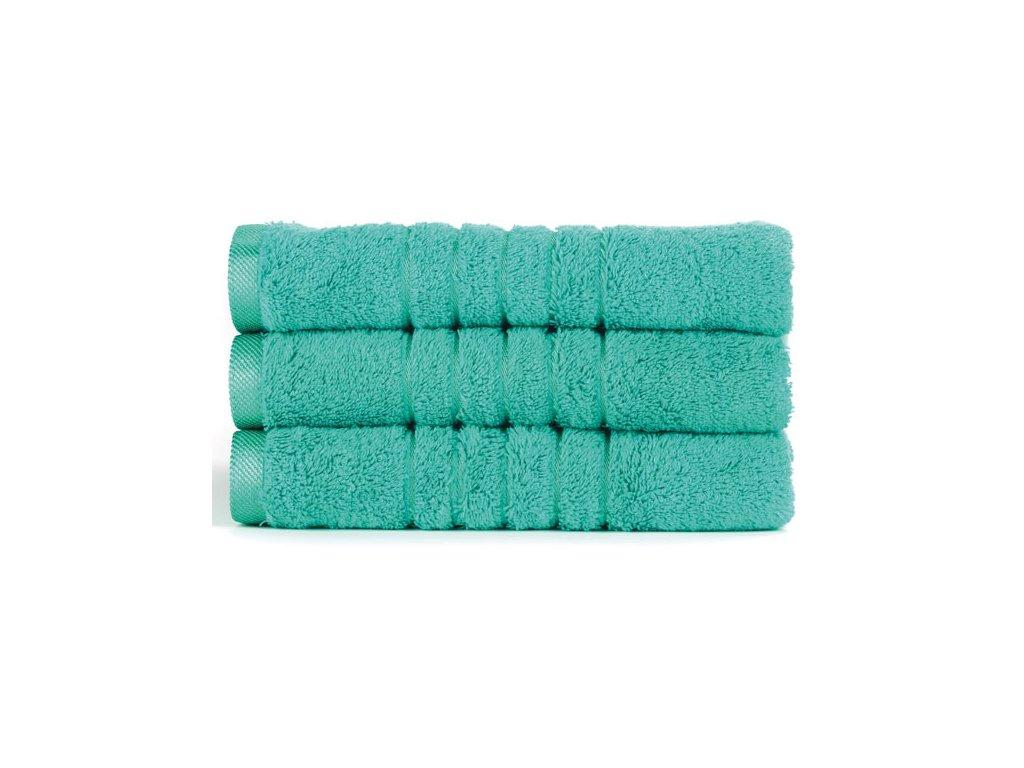 Brilliant froté ručník v tyrkysové barvě (Lagoon) 50 x 100 cm