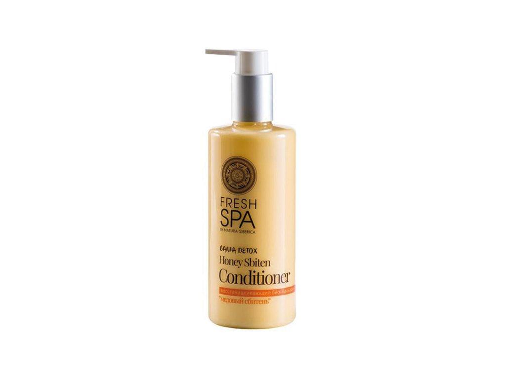 Natura Siberica Fresh Spa Bania Detox Regenerační bio kondicionér pro barvené vlasy Medový