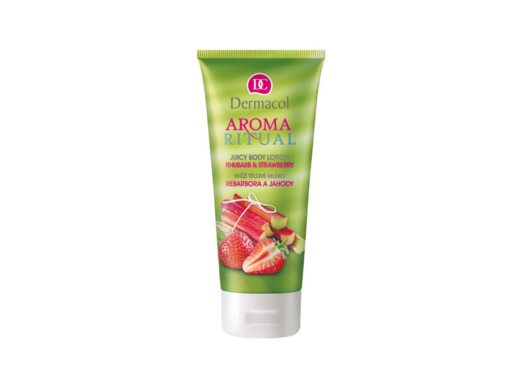 Dermacol Aroma Ritual tělové mléko rebarbora a jahody (Body Lotion Rhubarb & Strawberry) 200 ml