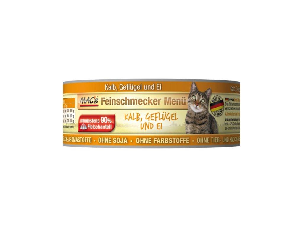 Macs Cat Fajnšmekr masová konzerva pro kočky (telecí a drůbeží)