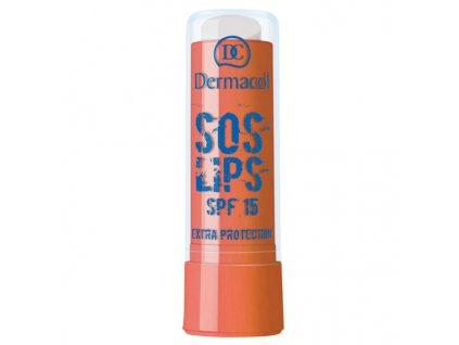 Dermacol Zvláčňující balzám na rty s neodolatelnou vůní čokolády (Lip Balm SOS Lips - Chocolate) 3,5 ml (Odstín Extra Protection)