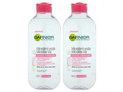 Garnier Skin Naturals micelární voda pro citlivou pleť duopack 2x400 ml