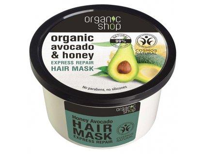 Eshopak 600x600 Organic Shop Vlasová maska Med a Avokádo