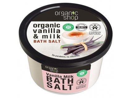 Eshopak 600x600 Organic Shop Koupelová sůl Vanilka a mléko