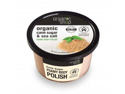 Organic Shop Koupelový cukrový peeling s mořskou solí, 250 m