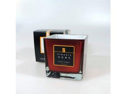 Adpal svíčka ve skle Classic Home se zrcadlovým efektem 80x80x80 mm Pretty Women vínová