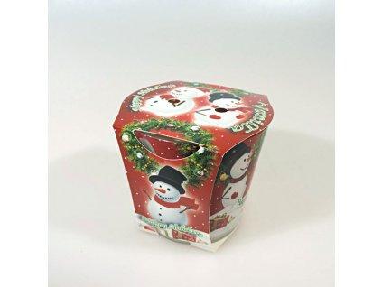 Adpal vonná svíčka ve skle 80x90 mm Happy Holidays - vanilka