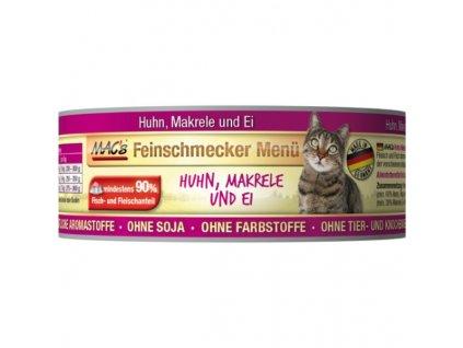 Macs Cat Fajnšmekr masová konzerva pro kočky (kuřecí s makrelou), exp.12/2019