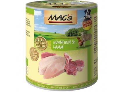 Macs Dog masová konzerva pro psy (kuřecí a jehněčí), exp. 6/7/2020
